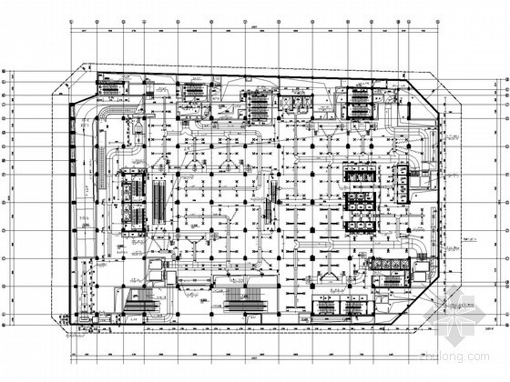 [成都]超高层商业综合体暖通全套施工图纸113张(制冷机房 锅炉房 换热间)