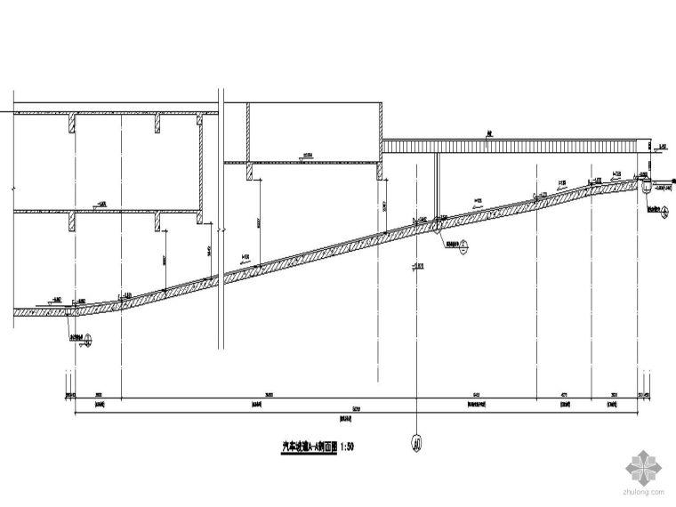 [上海徐汇]某二十四层高档商务大厦-汽车坡道详图