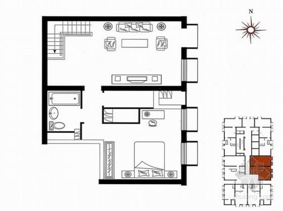 某高层(跃层)建筑设计户型方案图集