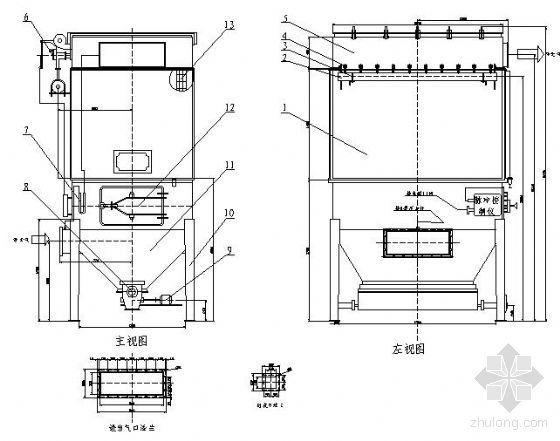 MC60-I型脉冲袋式除尘器设计图