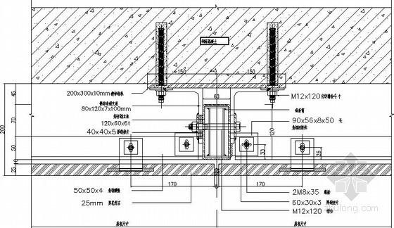 干挂石材节点结构详图