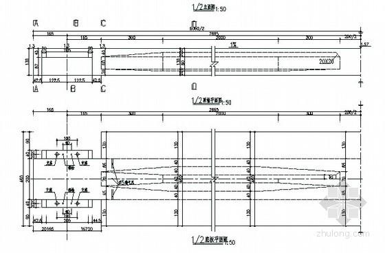 [深圳]市政人行天桥全套设计图纸