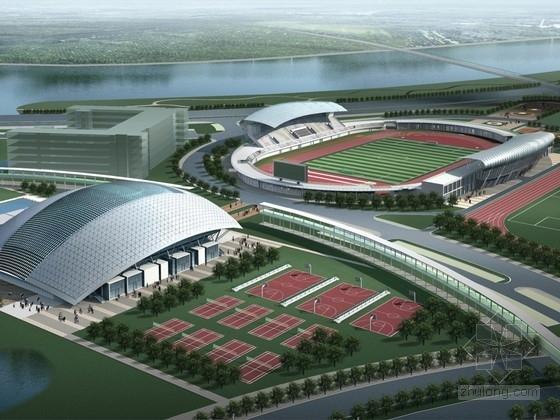 [广州]知名大学体育场馆设计方案文本(含CAD详图)