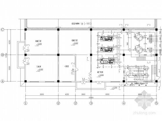 某冷库氨制冷工艺设计施工图纸