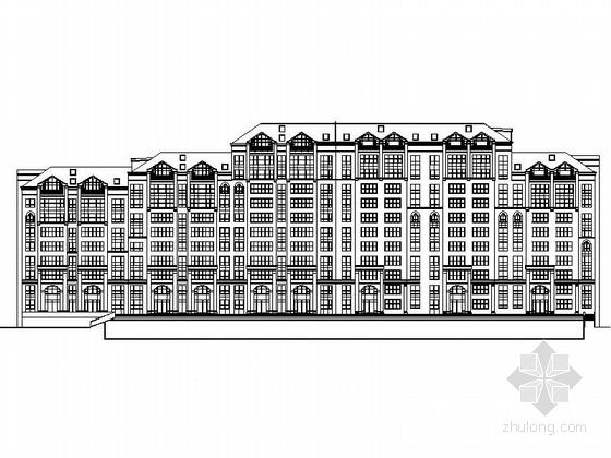 [吉林]某欧式风格十一层住宅楼建筑施工图