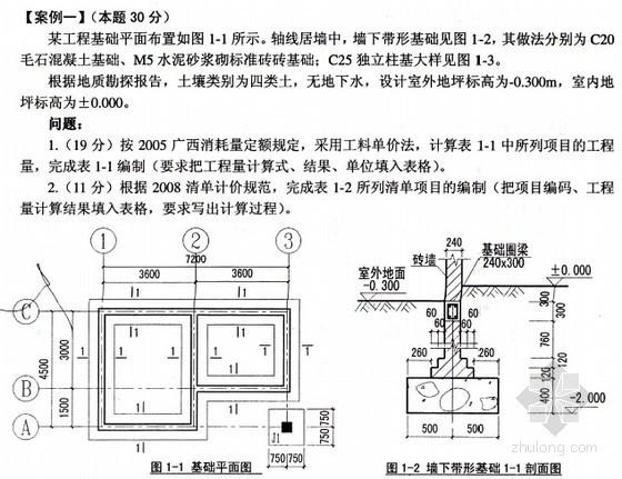 [广西]2013年土建造价员《工程计量与计价实务》考试试题