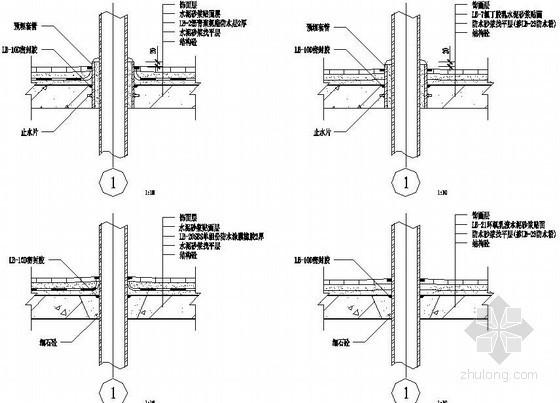 厨房、卫生间穿板管口密封口防水节点图