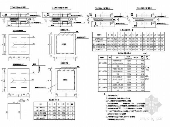 分离式立交连续箱梁桥支座安装构造图设计