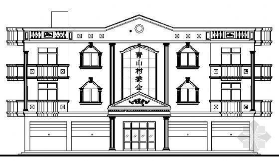 某乡村三层办公楼建筑施工图