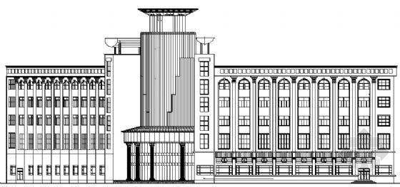 某房产中心五层办公楼建筑施工图