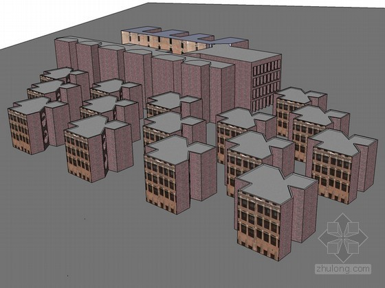 管理学院SketchUp模型下载