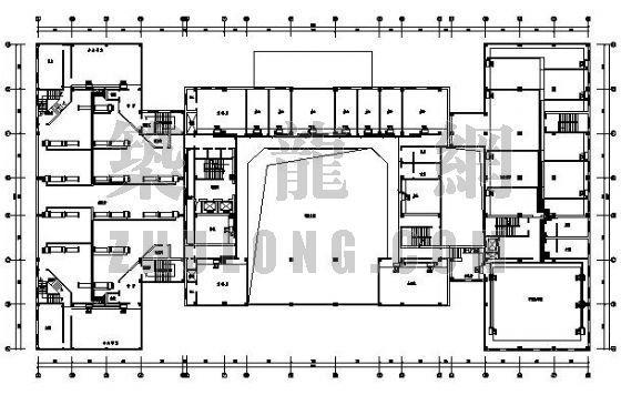 安徽省某人民政府行政中心办公楼VRV空调设计图