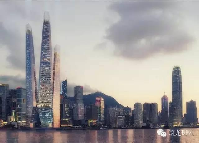 """香港地标接吻楼""""综合体-BIM在城市综合体的实践应用"""