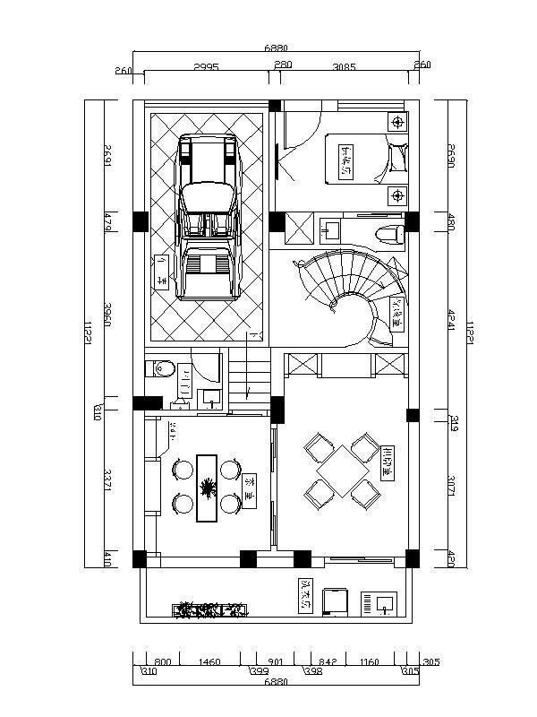 [合肥]奢华大气欧式高档别墅室内设计cad施工图图片