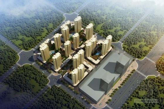 [安徽]新古典风格高层住宅小区建筑设计方案文本(知名地产)