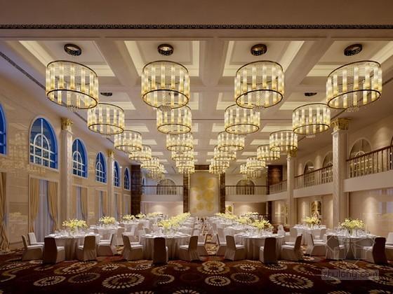 欧式宴会厅3d模型下载