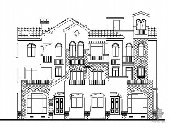 [长沙]某地中海风格豪华双拼别墅建筑施工图