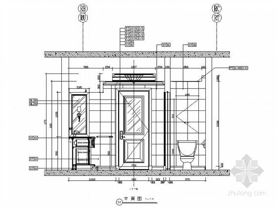 [北京]高级度假酒店标准客房室内装修竣工图 立面图