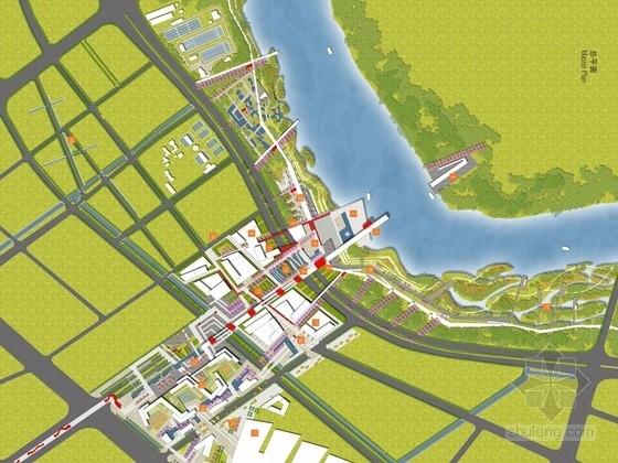 [南京]青年绿色科技城市景观规划设计方案(较全)