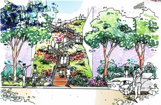 花园空山径效果图