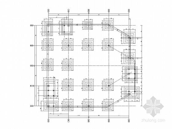 三层钢框架结构展示中心结构施工图