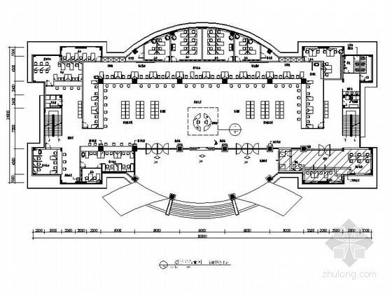 [江西]高档现代综合性行政服务中心室内装修CAD施工图