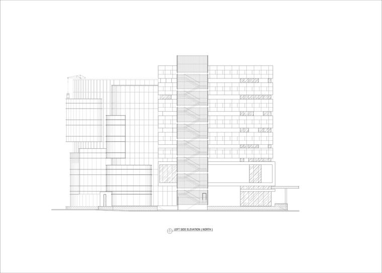 九转回环、流畅现代的车展大厅及办公楼设计_20