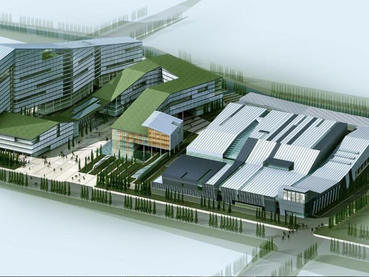 [江苏]南京创业产业园印刷业建筑设计方案文本(CAD+SU+文本)