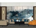 新中式风格现代中式禅意住宅成套SU模型