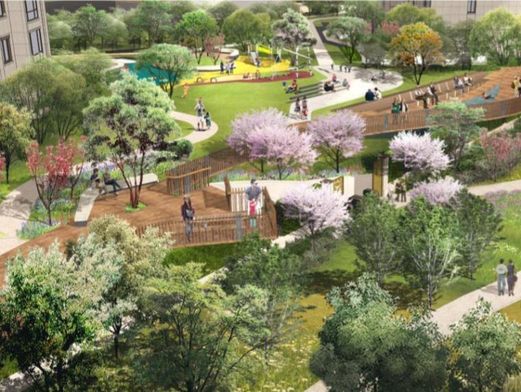 [江苏]南京滨水住宅区景观设计深化方案(公园借景、水岸生活)