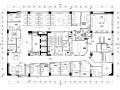 某大型房地产公司办公空间装饰施工图设计(附效果图)