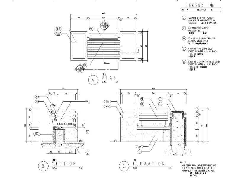 [广东]山水人家景观施工图设计(包含210个CAD+现场照片)-节点详图