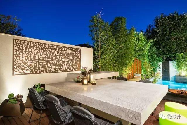 各式各样的庭院景观墙,美_41