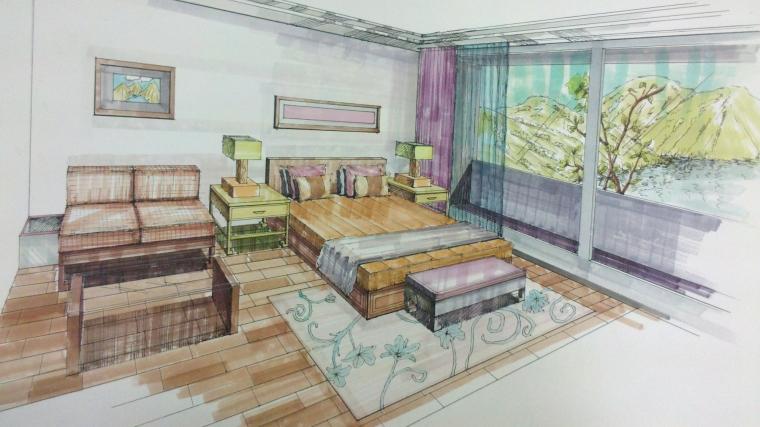 手绘卧室_1