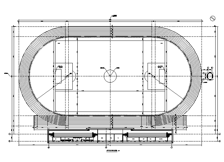 大学操场看台及运动场建筑结构施工图2015
