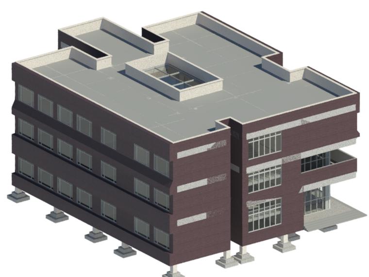 BIM模型-revit模型-教学楼模型