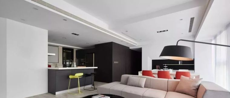92平简约二室二厅客厅电视墙装修效果图