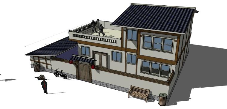 乡村住宅建筑设计SU模型