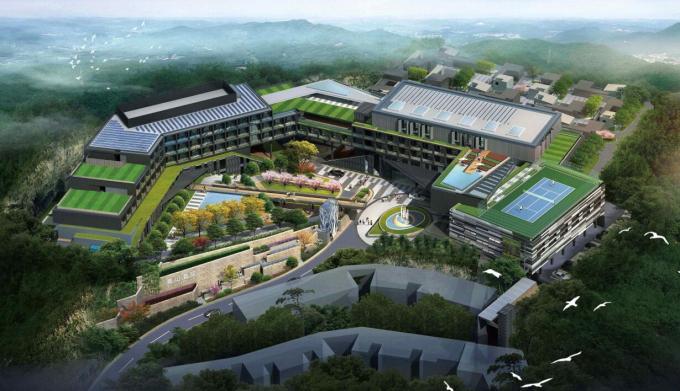 [江苏]旅游度假山庄青山五星级酒店景观方案