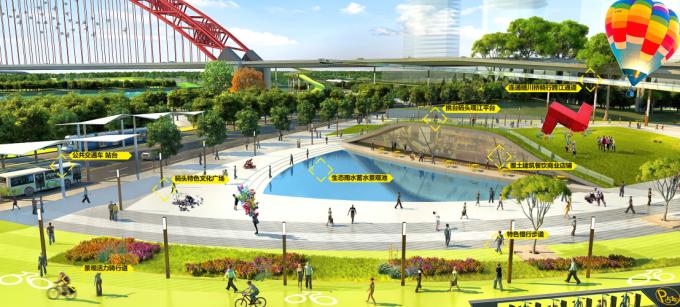 """[湖北]""""海绵城市""""汉派文化核心绿轴生态滨江商业核心区景观设计方案_4"""