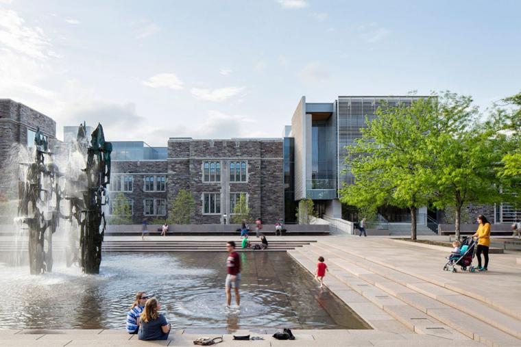 哥特式学术建筑普林斯顿大学校园外部实景图 (1)