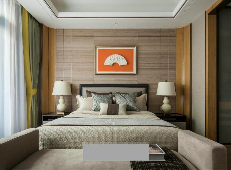[佛山]知名设计新中式与现代简约别墅样板房设计施工图(含实景图_11