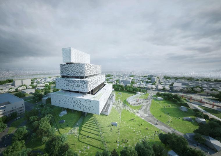 堆叠起的发电站,韩国中电力公司竞赛二等奖