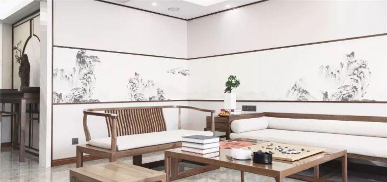 新中式徽派元素山水画为轴线的家装设计_9