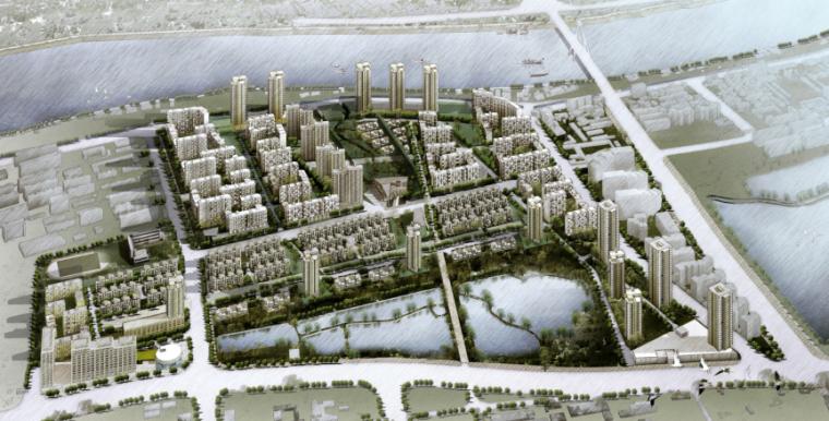 [湖北]万科汉钢居住区项目规划设计(含cad、su模型)
