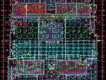 晋中市CBD项目车库基础平面布置图(详图)