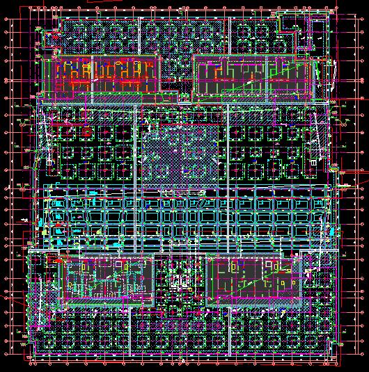 uasb工艺污水处理厂平面布置图资料下载-晋中市CBD项目车库基础平面布置图(详图)