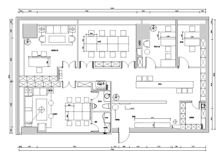[新疆]某金融公司办公空间设计施工图+实景图(新中式二百平)