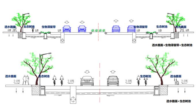 [湖北]生态海绵城市中央绿轴地下立体化商业广场景观绿化设计方案(2017最新)_13