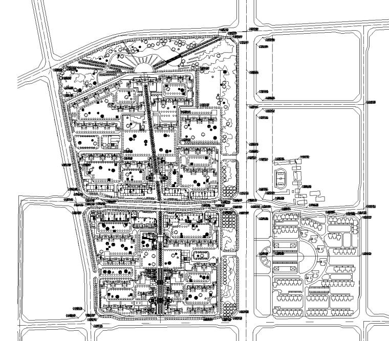[北京]新北京故事居住区景观CAD施工图(含手绘方案及室内布局)